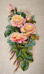 Borduurpakket Vintage Roses (Linen) - Merejka