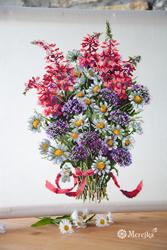 Borduurpakket The Field Bouquet - Merejka