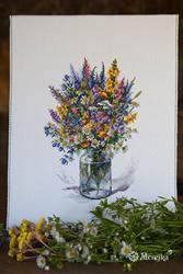 Borduurpakket The Thistle Bouquet - Merejka