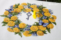 Borduurpakket Dandellion Wreath - Merejka
