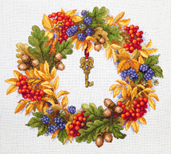 Borduurpakket Autumn Wreath - Merejka