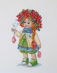 Borduurpakket Winter Girl - Merejka