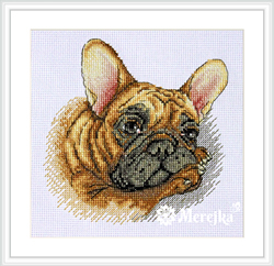 Borduurpakket French Bulldog - Merejka