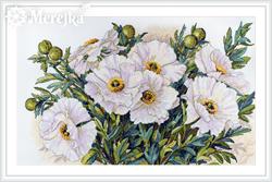 Borduurpakket White Flowers - Merejka