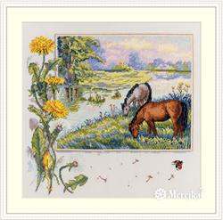 Borduurpakket Horses - Merejka
