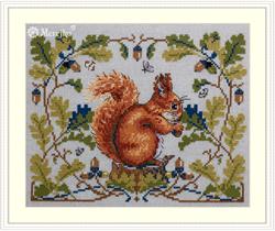 Borduurpakket Squirrel - Merejka