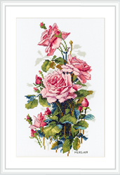 Borduurpakket Pink Roses - Merejka