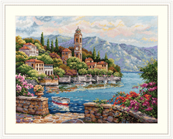 Borduurpakket Lago di Como - Merejka