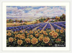 Borduurpakket Fields of Lavender and Sun - Merejka