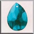 Glass Treasures Marbled Teardrop-Blue - Mill Hill