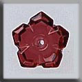 Glass Treasures 5 Petal Dim Flower-Ruby - Mill Hill