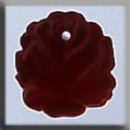 Glass Treasures Medium Rose-Matte Ruby - Mill Hill