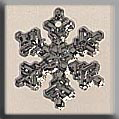 Glass Treasures Small Snowflake-Crystal Bright - Mill Hill