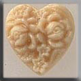 Glass Treasures Cameo Heart-Ivory - Mill Hill