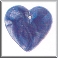 Glass Treasures Vertical Stripped Heart-Blue - Mill Hill