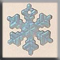 Glass Treasures Med. Snowflake-Matte Crystal AB - Mill Hill