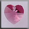Crystal Treasures Small Heart-Rose - Mill Hill