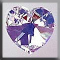 Crystal Treasures Medium Heart-Crystal AB - Mill Hill
