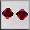 Crystal Treasures Rondele Siam AB 6mm - Mill Hill