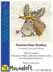 Borduurpakket Summertime Donkey - Mouseloft