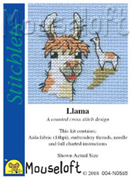 Borduurpakket Llama - Mouseloft