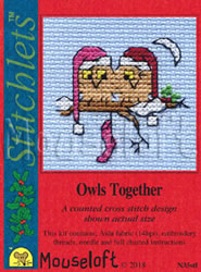Borduurpakket Owls Together - Mouseloft