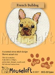 Borduurpakket French Bulldog - Mouseloft