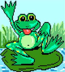 Voorbedrukt Aida Frog - Matryonin Posad