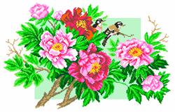 Voorbedrukt Aida Garden Elegy - Matryonin Posad