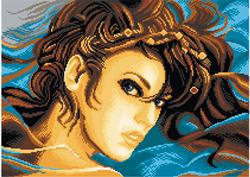 Voorbedrukt Aida Diana - Matryonin Posad