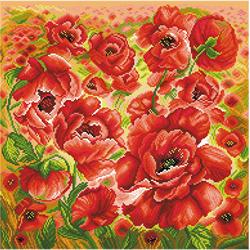 Voorbedrukt Aida Poppy Flower - Matryonin Posad
