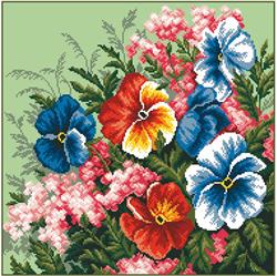 Voorbedrukt Aida Cupid'S - Delight Flower - Matryonin Posad