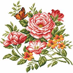 Voorbedrukt Aida Flowers Delight - Matryonin Posad