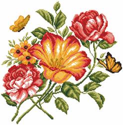 Voorbedrukt Aida Flowers Caprice - Matryonin Posad