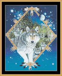 Borduurpatroon Wolf Song - Mystic Stitch