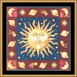 Borduurpatroon Celtic Sun - Mystic Stitch