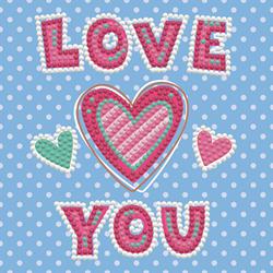 Diamond Dotz LOVE YOU - Needleart World