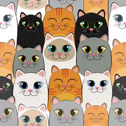 Diamond Dotz Cat Clan - Needleart World