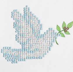 Diamond Dotz Dove of Peace - Needleart World
