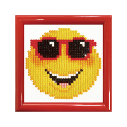 Diamond Dotz Smiling Face with Frame - Needleart World