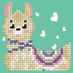 Diamond Dotz LLama Heart - Needleart World