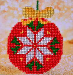 Diamond Dotz Red Bauble Picture - Needleart World