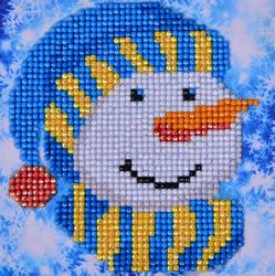 Diamond Dotz Snowman Cap Picture - Needleart World
