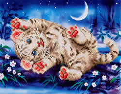 Diamond Dotz Baby Tiger Roly Poly - Needleart World