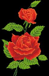 Diamond Dotz Red Rose Corsage - Needleart World