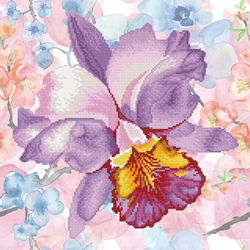 Diamond Dotz Sparkle Garden Mauve  - Needleart World