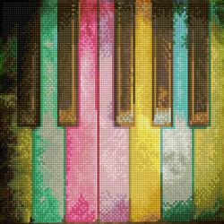 Diamond Dotz Piano Rainbow - Needleart World