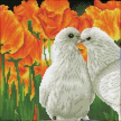 Diamond Dotz Kissing Doves - Needleart World
