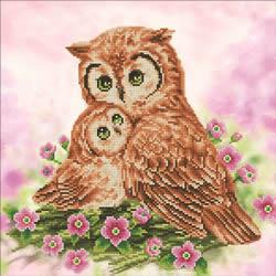 Diamond Dotz Mother & Baby Owl - Needleart World