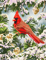 Diamond Dotz Good Fortune Cardinal - Needleart World